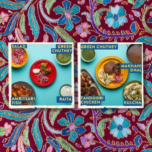 Amritsari Fish --- Tandoori Chicken with Kulcha and Makhani Dhal