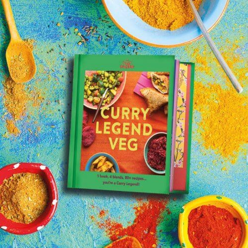 Curry Legend Veg Cookbook (blends not included!) - Pre-sale to be sent mid Sep!