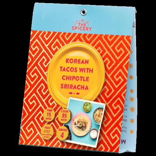 Korean Tacos with Chipotle Sriracha