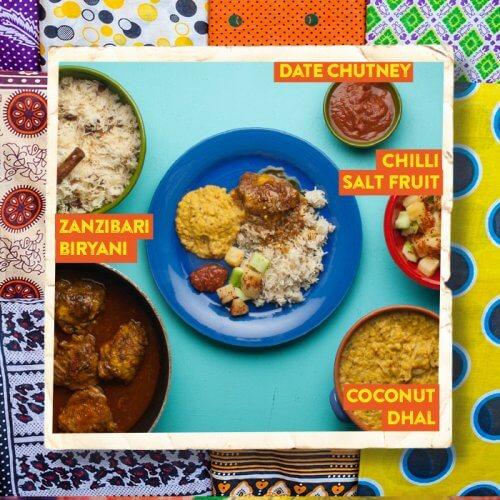 Zanzibari Chicken Biryani with Coconut Dhal and Date Chutney