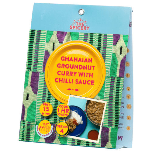 Ghanaian Groundnut Curry with Chilli Sauce