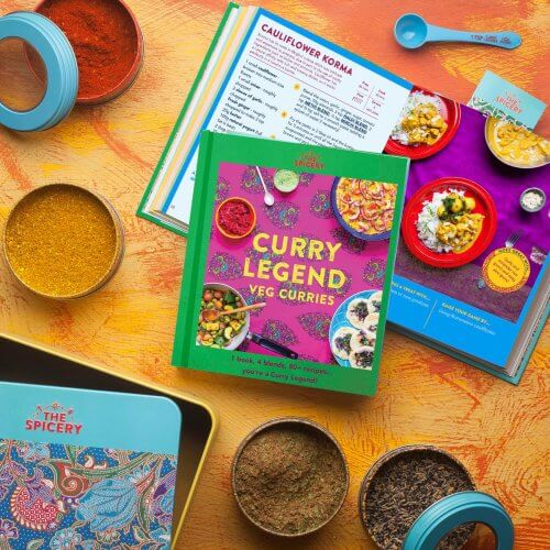 Curry Legend Veg Cookbook Kit in Presentation Tin - Pre-sale to be sent mid Sep!