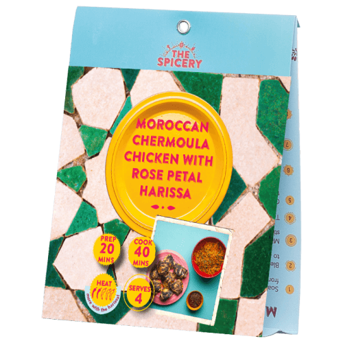 Moroccan Chermoula Chicken with Rose Petal Harissa